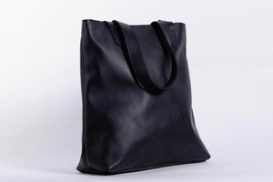 Load image into Gallery viewer, Hanna Leather Tote - Black - UnoEth