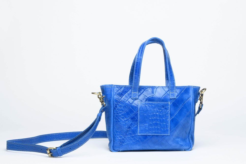 Load image into Gallery viewer, Kamali Leather Crossbody - Cobalt Blue
