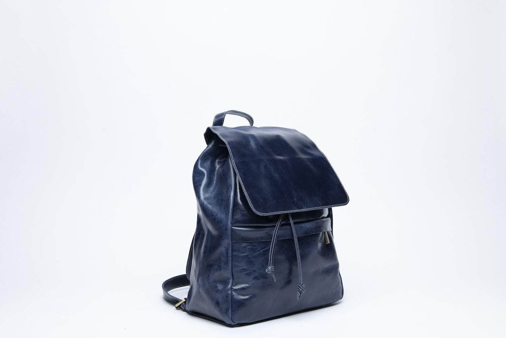 Enku Leather Backpack - Nile Blue - UnoEth