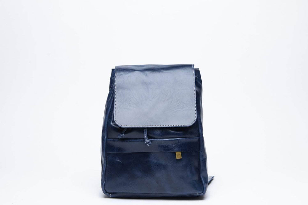 Mini Enku Leather Backpack - Nile Blue