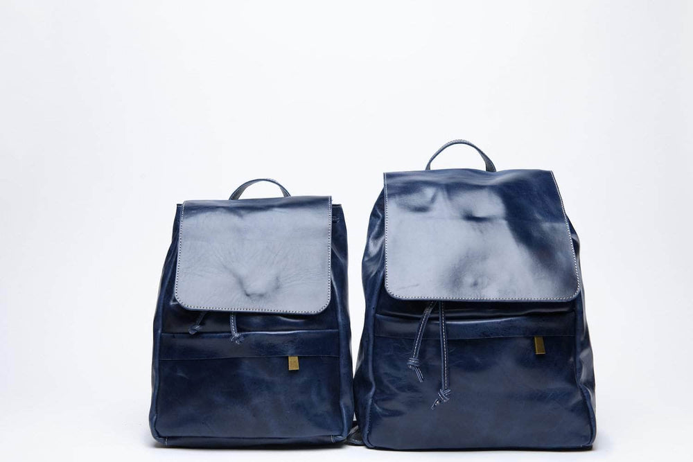 Load image into Gallery viewer, Mini Enku Leather Backpack - Nile Blue - UnoEth