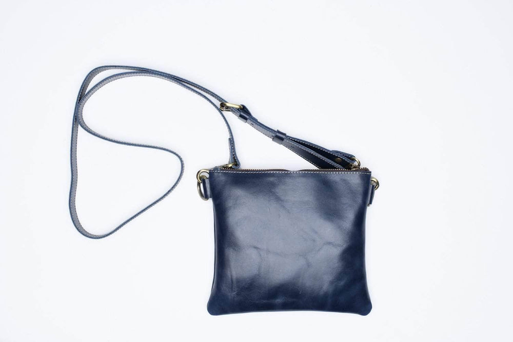 Amara Leather Crossbody - Nile Blue
