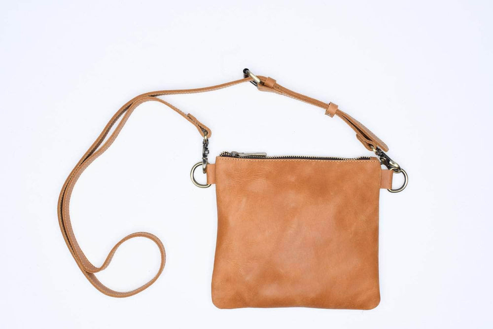 Amara Leather Crossbody - Walnut