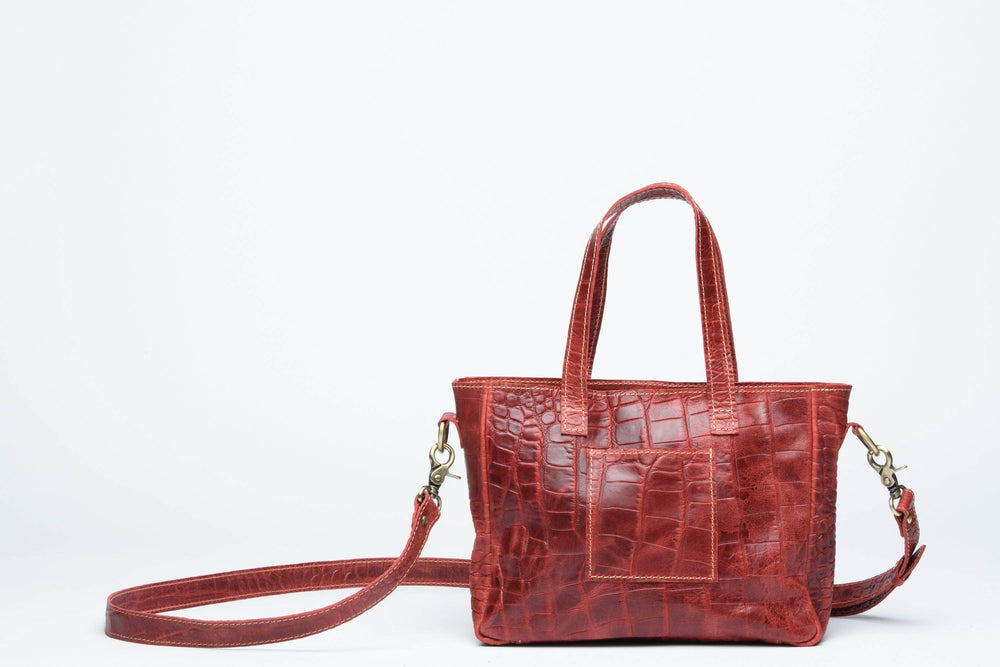 Load image into Gallery viewer, Kamali Leather Crossbody - Red