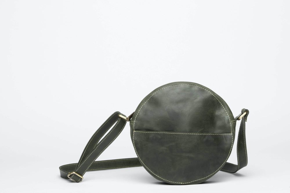 Zuri Circle Bag - Forest Green