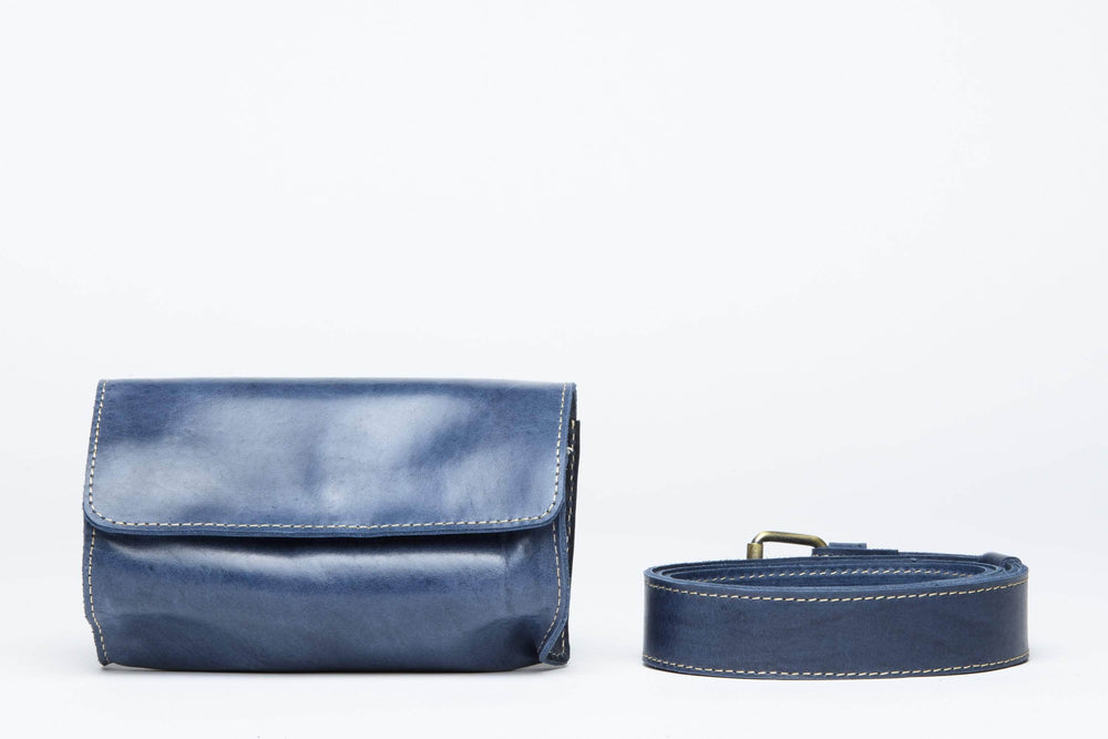 Bintu Barrel Fanny Pack - Nile Blue