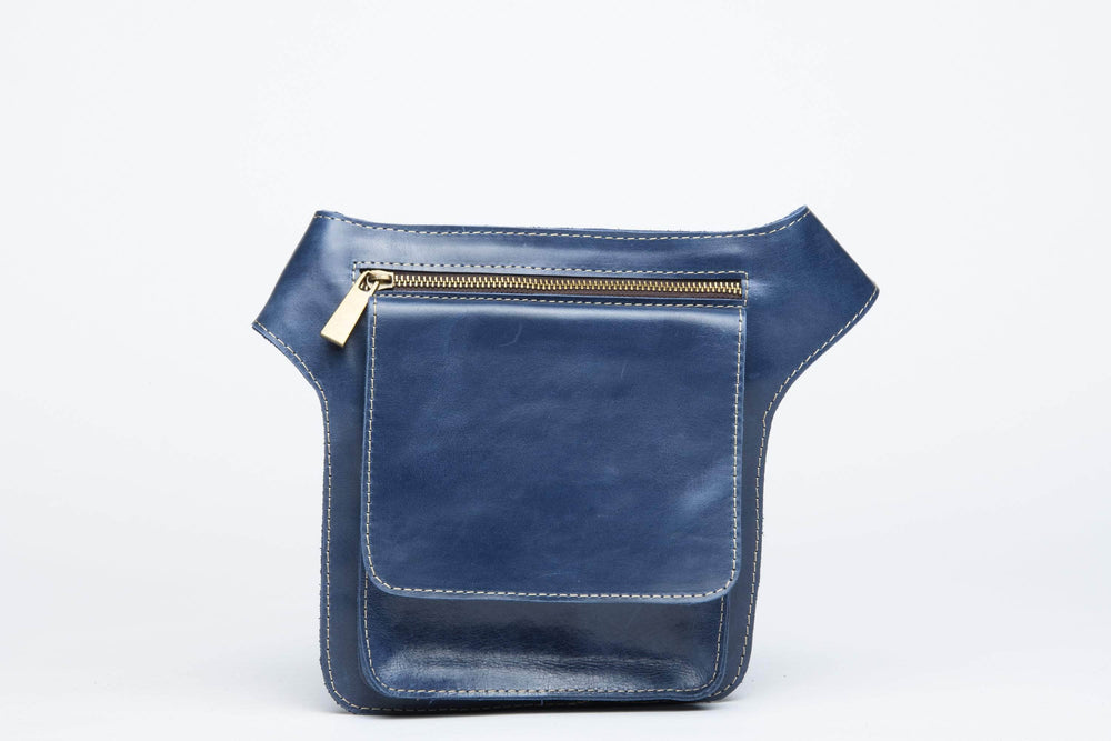 Mekane Leather Fanny Pack - Nile Blue