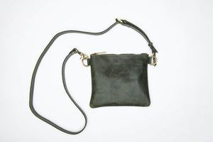 Amara Leather Crossbody - Forest Green