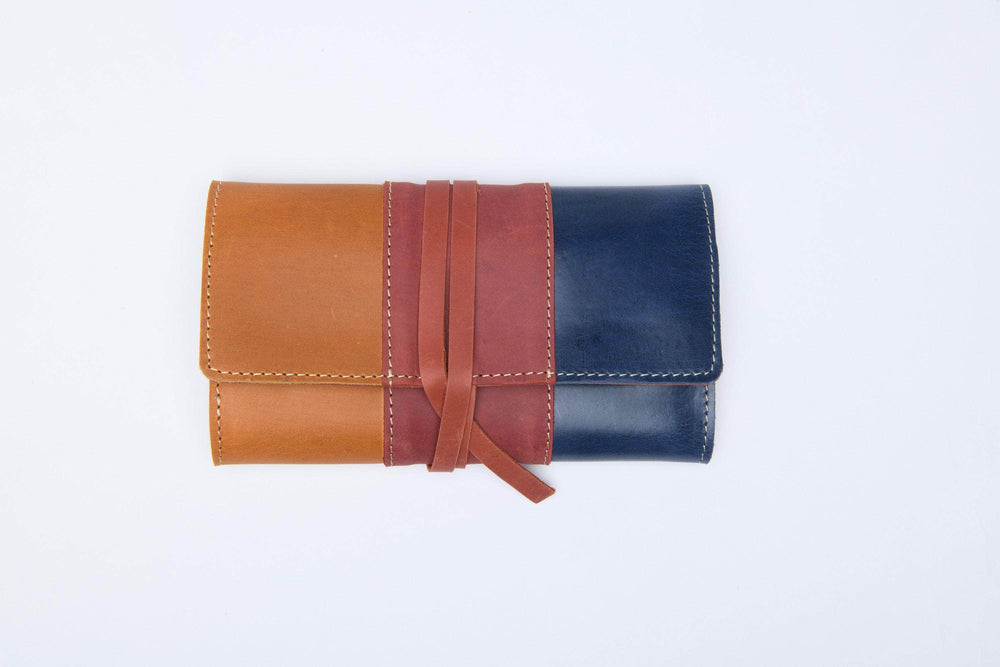 Colorblock Mesale Wrap Wallet