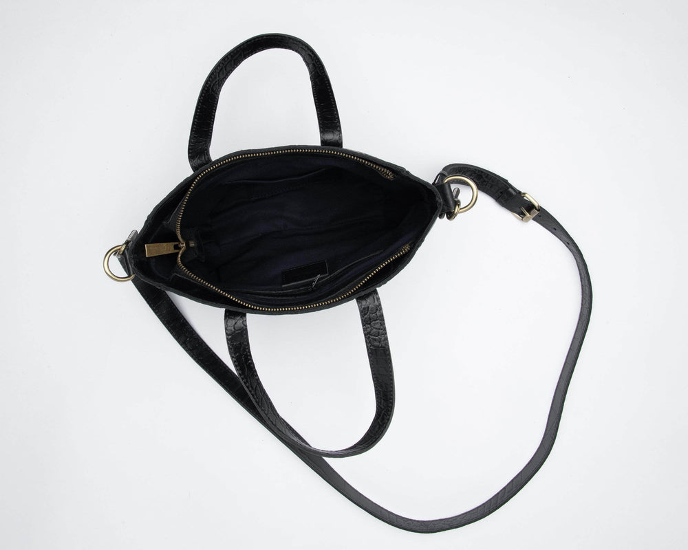 Kamali Leather Crossbody - Black