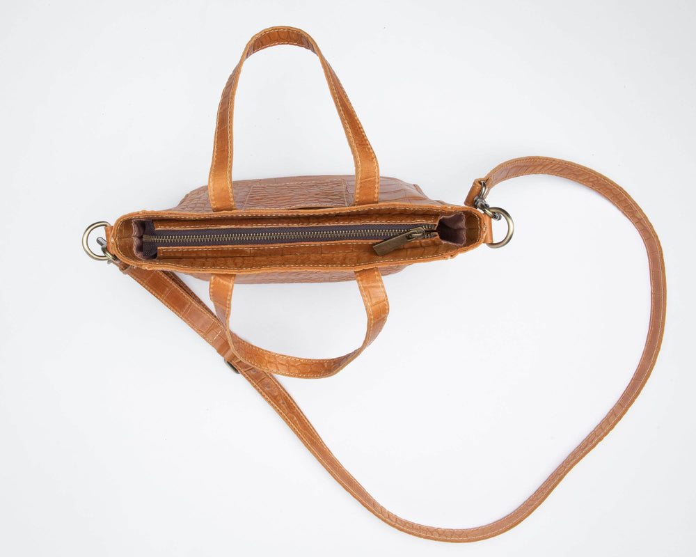 Kamali Leather Crossbody - Almond Brown