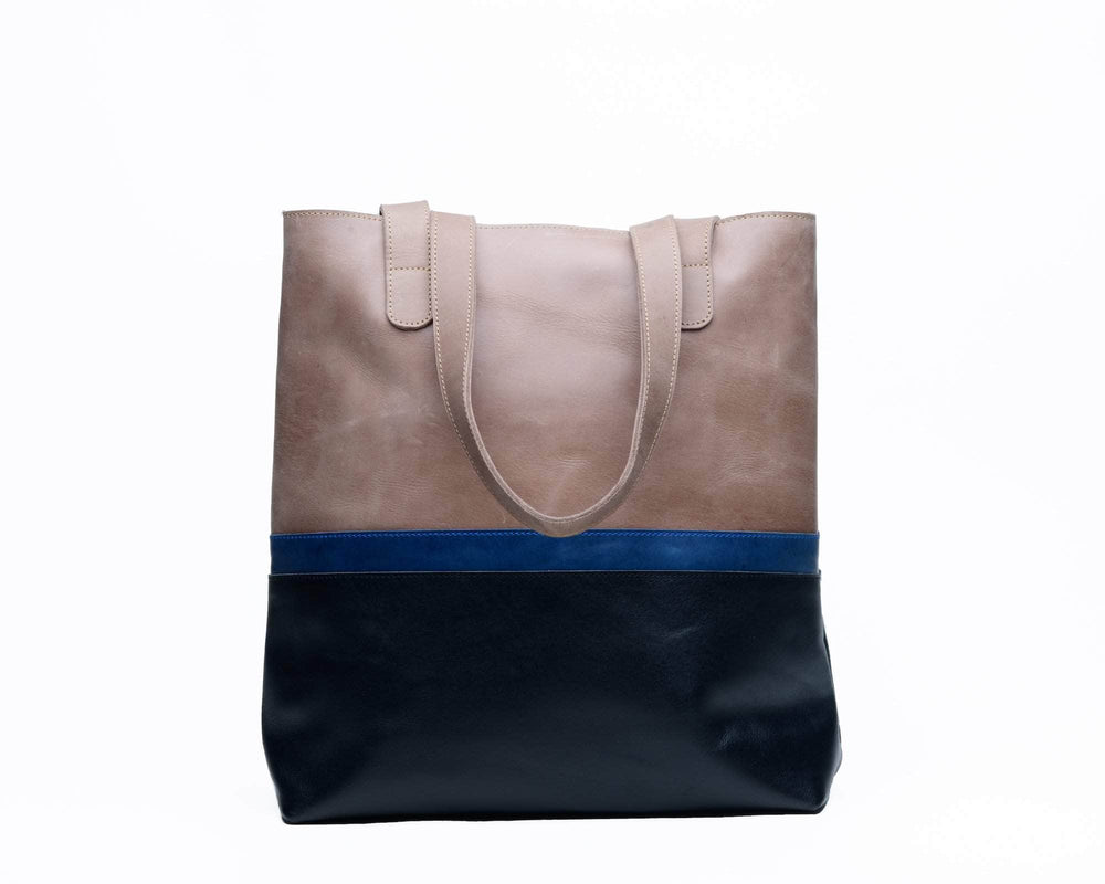 Colorblock Hanna Tote - Grey