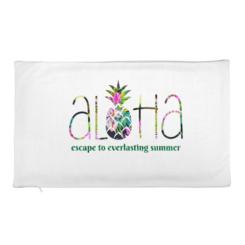 Aloha Pineapple Design- Premium Pillow Case only