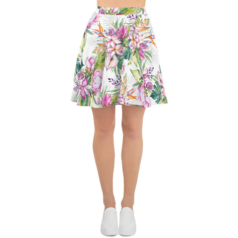 Anthurium Delight All-Over Print Skater Skirt Floral