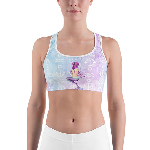 Mermaid and Shells Sports bra