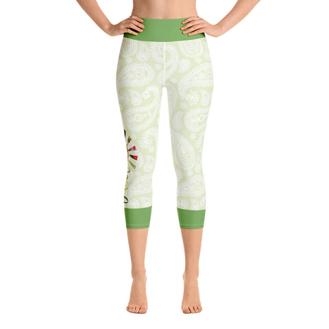 Hawaii Paisley Yoga Capri Leggings