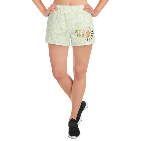 Hawaii Paisley Women's Athletic Short Shorts
