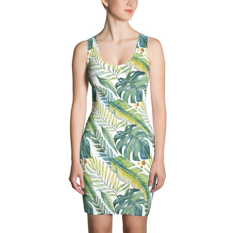 Tropical Leaves Hawaii Women's Dress