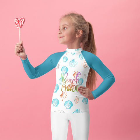 Sea Shells Kids Rash Guard
