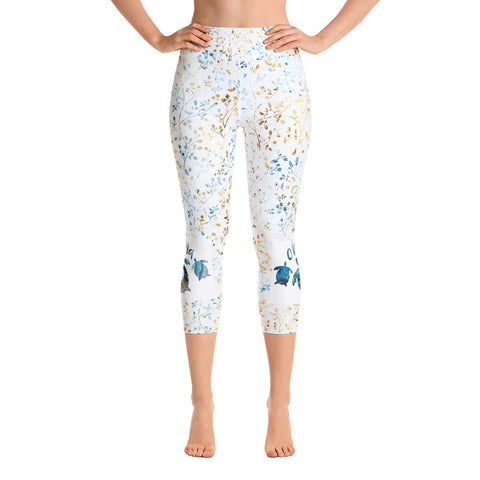 Ohana Blue Yoga Capri Leggings