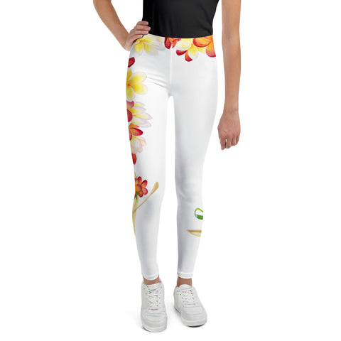 Hawaiian Flowers Youth Leggings