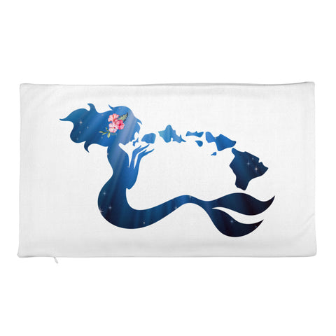 Hawaii Island Mermaid- Premium Pillow Case only