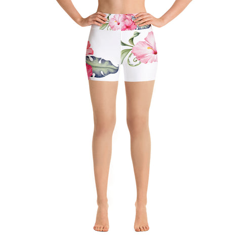 Hibiscus Yoga Shorts