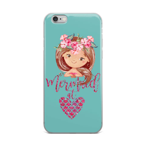 Mermaid at Heart iPhone Case