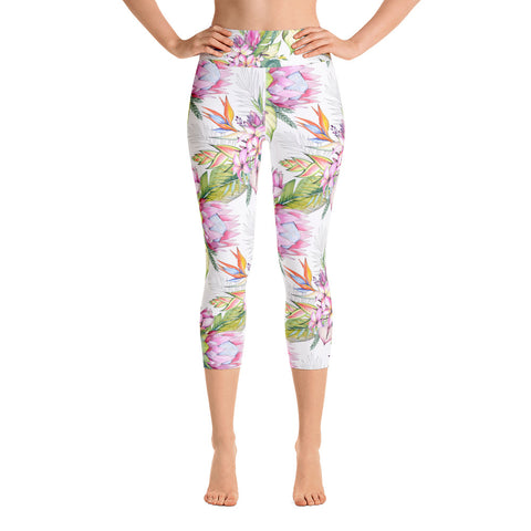 Tropical Beauty Yoga Capri Leggings