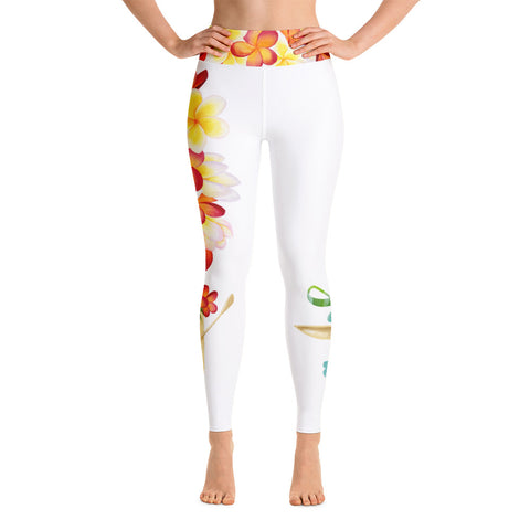 Hawaiian Flowers Yoga Leggings