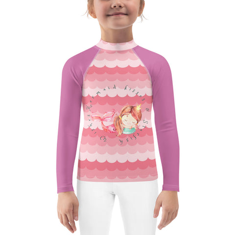 Mermaid Kisses Kids Rash Guard