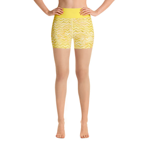 Island Girl Yellow Yoga Shorts