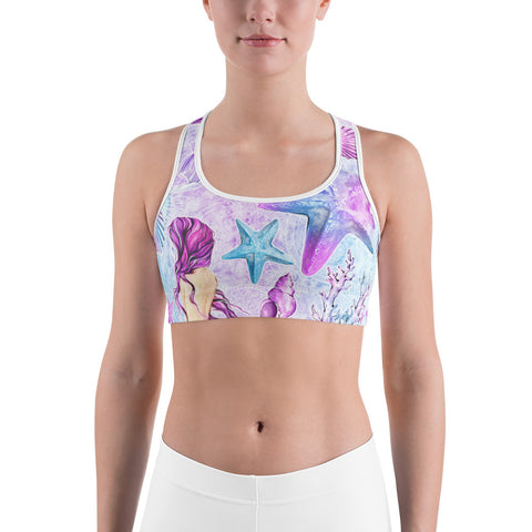 Purple Shells Sports bra