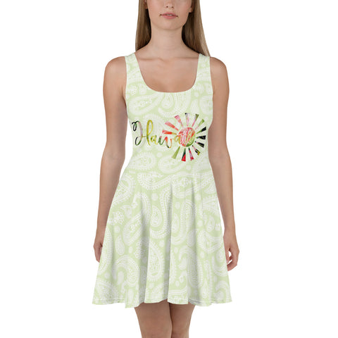 Hawaii Paisley Skater Dress