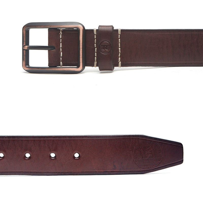 Edge Lined Belt Brown
