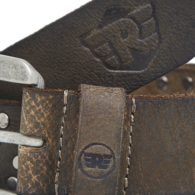 Leather Belt With Ingots Olive - Royal Enfield
