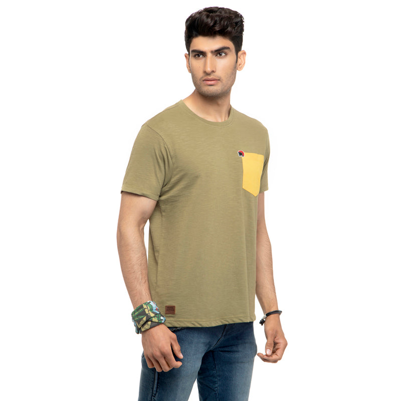 Duo T-Shirt-Light Olive