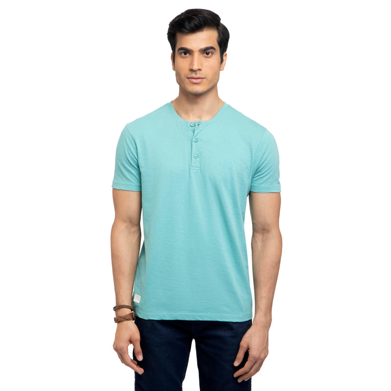 Henley T-Shirt-Teal