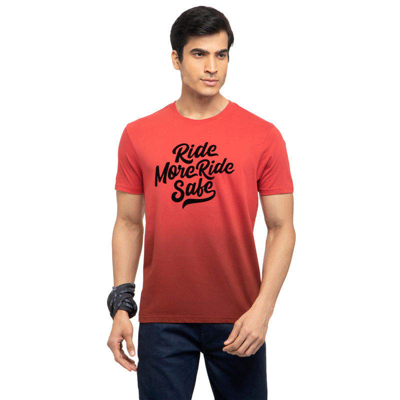Ride More Ride Safe T-Shirt-Red