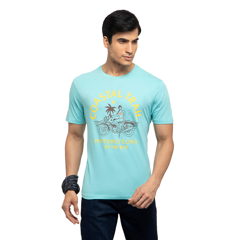 COASTAL TRAIL T-SHIRT - TEAL