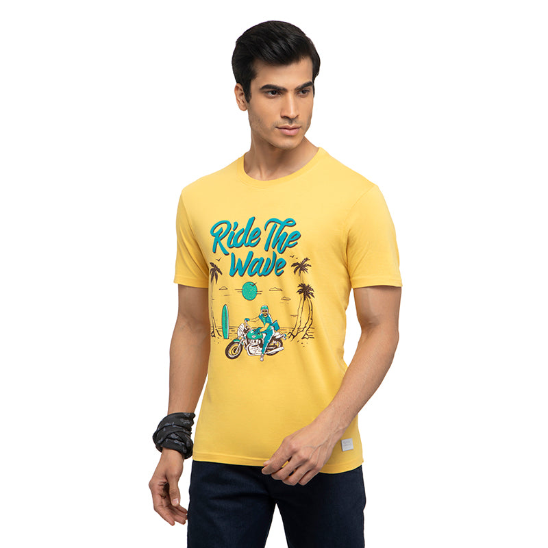 Ride The Wave T-Shirt-Yellow