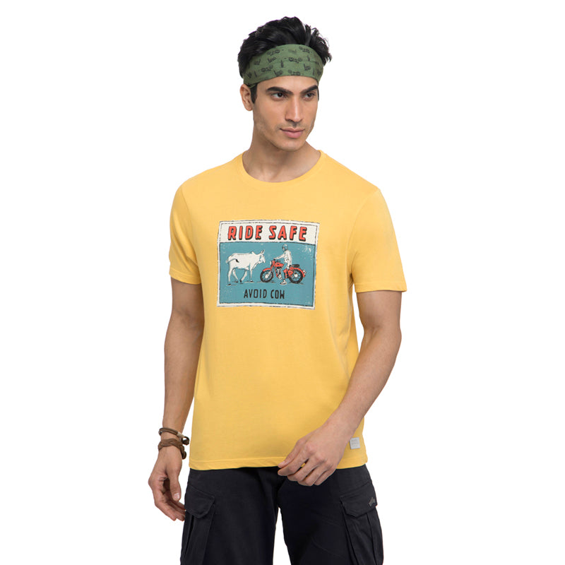 Street Ready T-Shirt-Mimosa Yellow