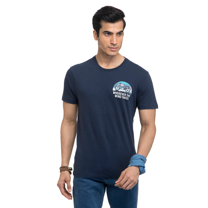 Ride The Wind T-Shirt-Navy