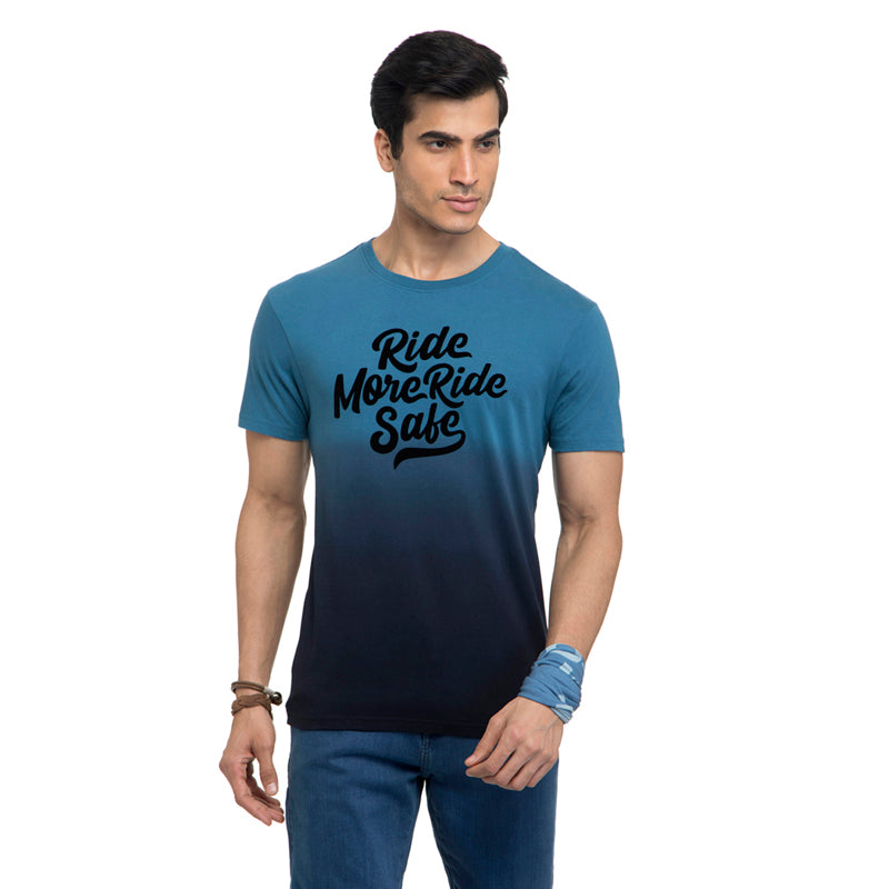 Ride More Ride Safe T-Shirt-Deep Teal