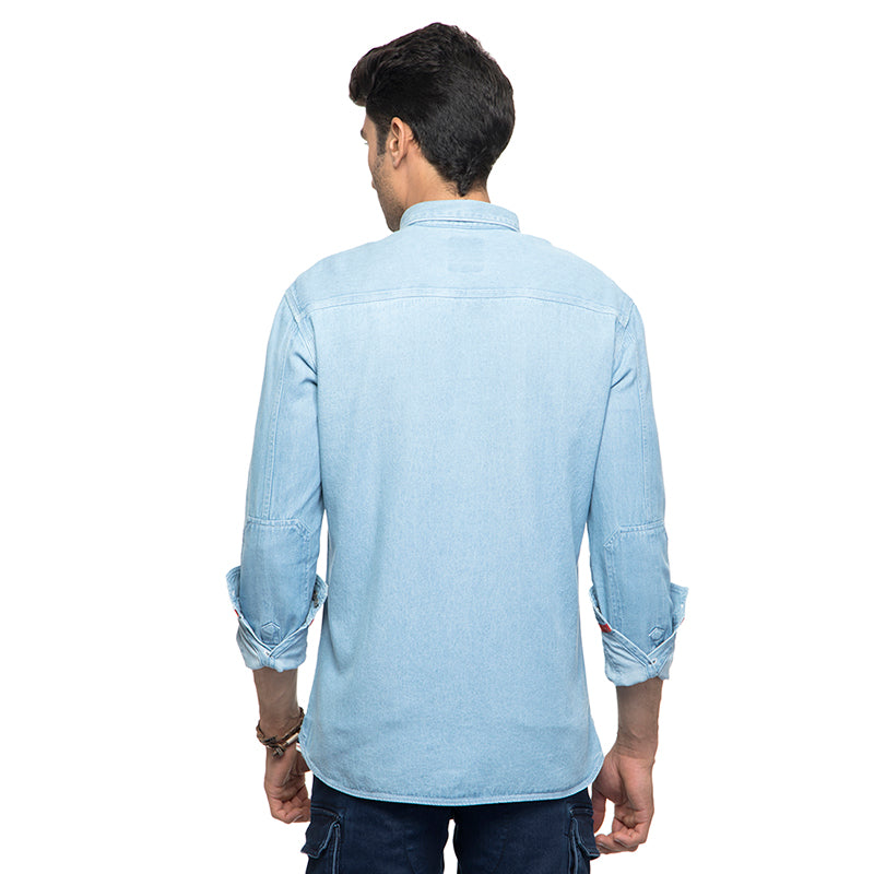 CLASSIC DENIM SHIRT- LIGHT BLUE