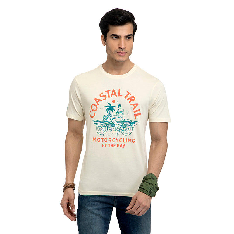 COASTAL TRAIL T-SHIRT - LIGHT OLIVE