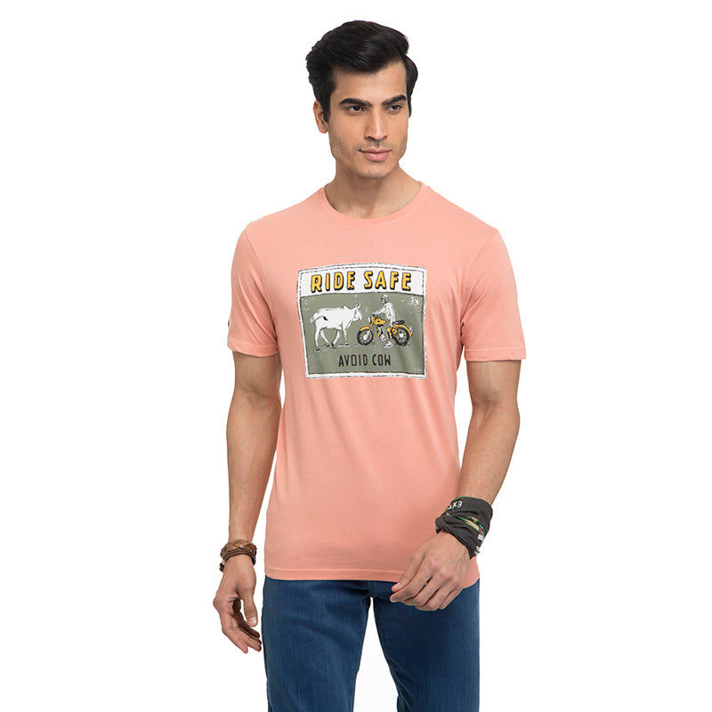 Street Ready T-Shirt-Peach
