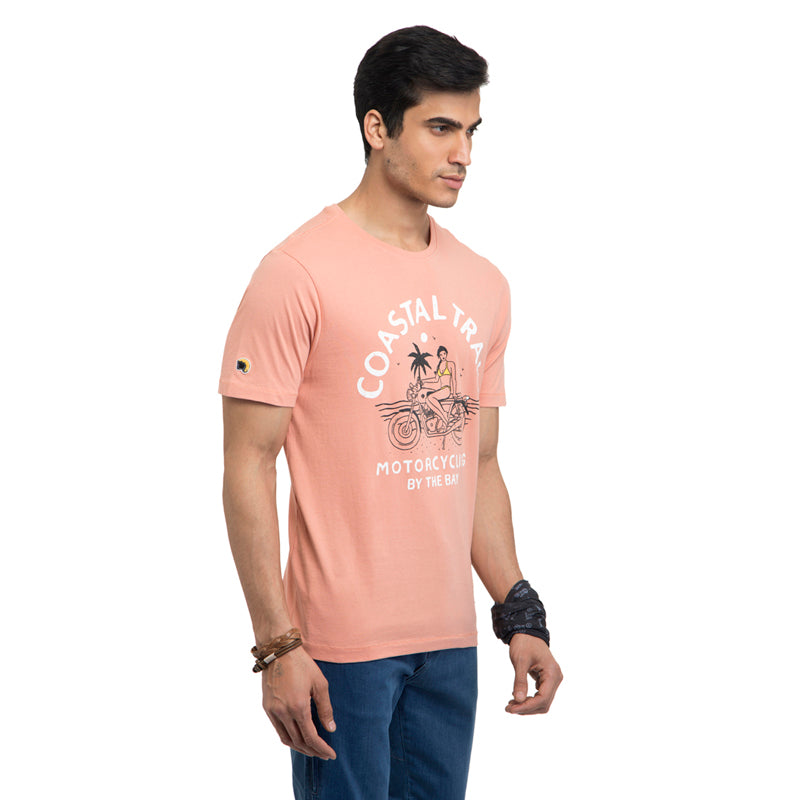 COASTAL TRAIL T-SHIRT - PEACH