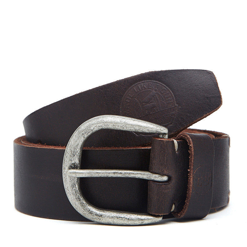 Sandcast Leather Belt Dark Brown