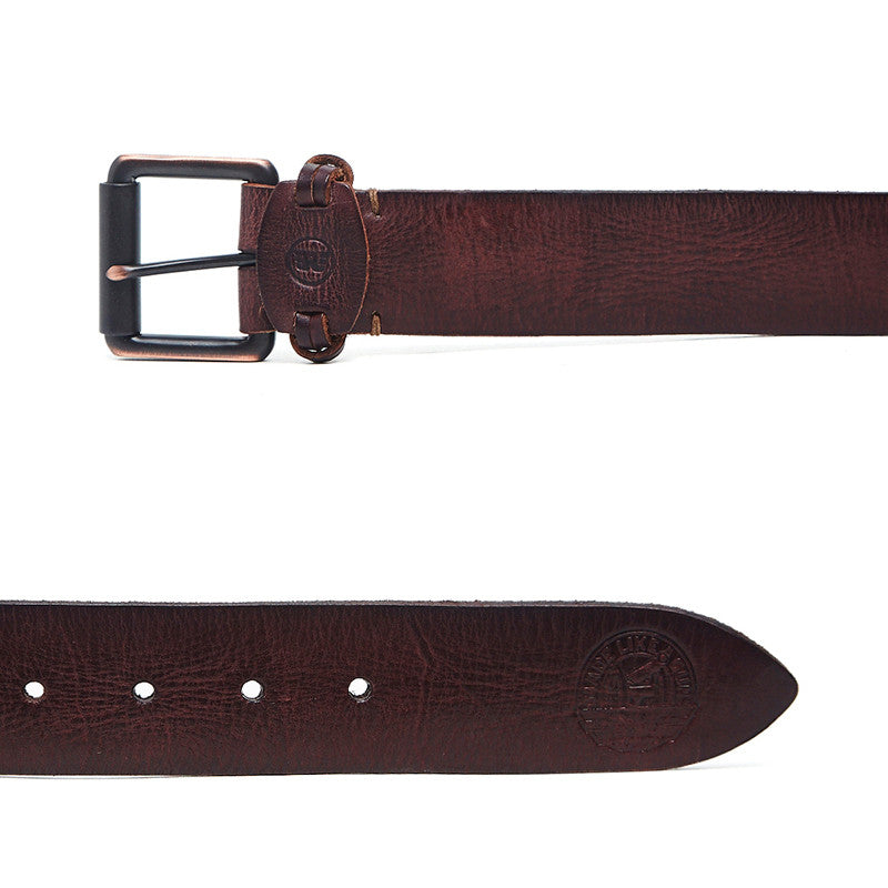 Fastener Leather Belt Brown